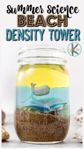 The summer is the perfect time for sneaking in some funsummer science experiments while having an outrageously fun time with asummer activity for kids! In thisdensity tower, children will learn about the layers of the ocean as they make a simplebeach science experiment. Thisbeach theme preschool activities is perfect for pre-k, kindergarten, first grade, 2nd grade, 3rd grade, and 4th graders too. You will love this cleverocean themed science experiments that is a cool twist on the classicdensity experiment for kidsout there.