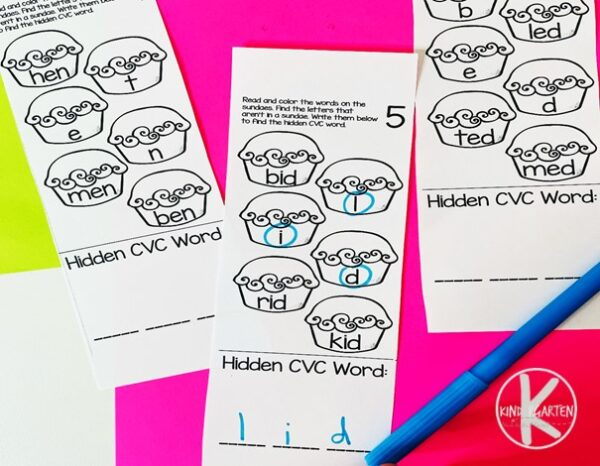 CVC Worksheets for Kindergarten