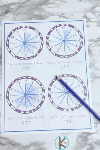Clock Worksheets for Kindergarten