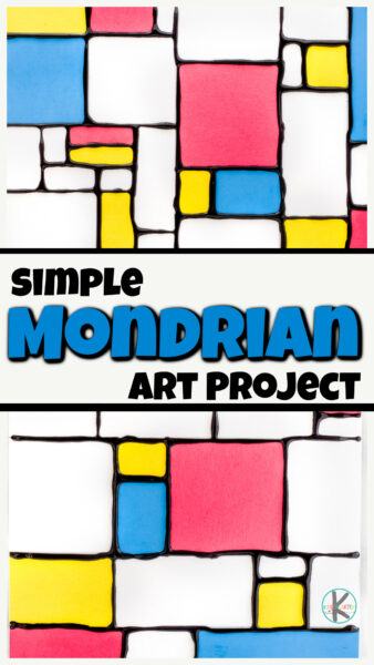 This funpiet mondrian for kids art project allows children to explore the unique abstract art style ofmondrian art for kids. This quick and EASYfamous art projects is perfect for preschool, pre-k, kindergarten, first grade, 2nd grade, 3rd grade, 4th graders, and up. As they explore the geometric style of thisabstract art for kids they will have fun not only learning aboutmondrian for kids, but have fun with hands-on art projects for kindergartenas well.