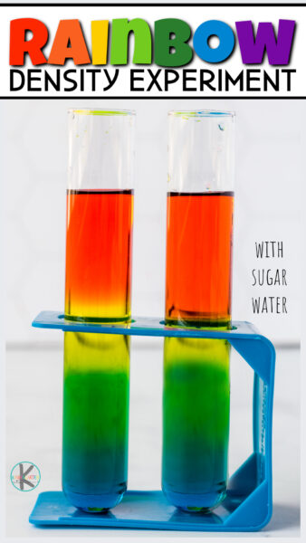 Did you know you can effectively demonstrate density with just food coloring, sugar, and water! Don't believe me? Thisrainbow in a jar with sugar allows you to show kids how the more dense a liquid (colored for visual purposes only), the heavier it is and it will sink. Thisrainbow density jar is quick, easy, and cheap to try. Use this rainbow in a jar experiment with sugar as a rainbow activity for kids in the spring or as part of a science lesson ondensity for kids. No matter how you use it, thisdensity experimentmakes an impressivedensity towerthat will impress preschool, pre-k, kindergarten, first grade, 2nd grade, and 3rd graders too.