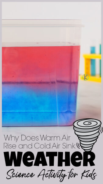 Have you ever wondered what creates thunderstorms and tornadoes? Well it all goes back to density. In thiswhy does warm air rise and cold air sink demonstration, kids will be able to visualy see the concept of why does warm air rise with ascience activity for kindergarten, pre-k, first grade, 2nd grade, 3rd grade, and 4th graders. WIth thedensity experiment for kidsknowldege, you can more easily explain how the updraft and downdraft winds created by cloud formations can create tornados!