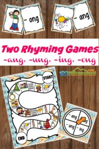 2 rhyming blends games