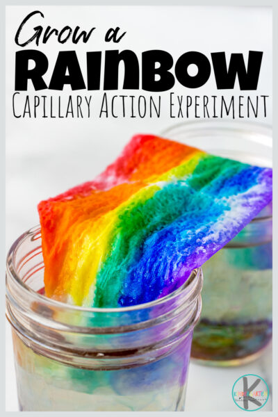 Amaze your kids with this SIMPLEgrow a rainbowactivity! Thisspring science experimentallows preschool, pre-k, kindergarten, first grade, 2nd grade, and 3rd graders to learn about capillary action with a beautifulwakling water science experiment. Thiskindergarten science experiment explorescapillary action for kids with a few simple materials and only takes 5 minutes!