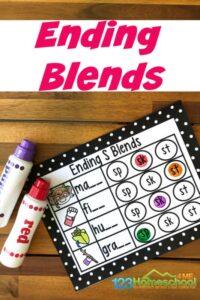ending blends activity