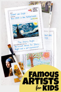 famous artists report for kids