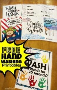 hand washing printables