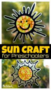 Cute Suncatcher Sun Craft for Preschoolers