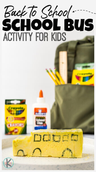 Look for simple, but outrageously FUN welcome back to school activities? Try this school bus back to school science activities to impress kids and dive right into learning about the chemical reaction between baking soda and vinegar! Thisfirst day of school activity allows preschool, pre-k, kindergarten, and first graders tomelt the school bus with an easychemistry experiment for kids. This cute project is perfect for thefirst week of school activities.
