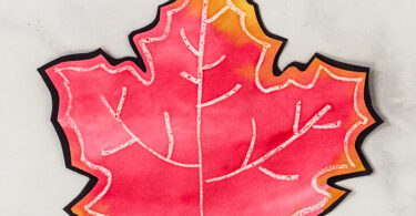 red maple leaf craft for kids