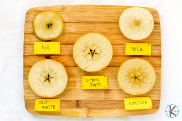 What Prevents apples from browning