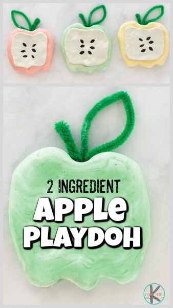 Playing with playdough is not only fun, but great for strengthening hand muscles, sensory activity, and exploring creativity too. This apple playdough is a quick and easy-to-makeautumn playdough to enjoy in the month of September. But this fall playdough recipe is also SUPER soft playdough that will blow your mind with how much fun it is to squish. I will show you how to make soft playdough with toddler, preschool, pre-k, kindergarten, first grade, and 2nd graders too. Use this apple playdoh as part of anapple theme or hands-onapple activities!