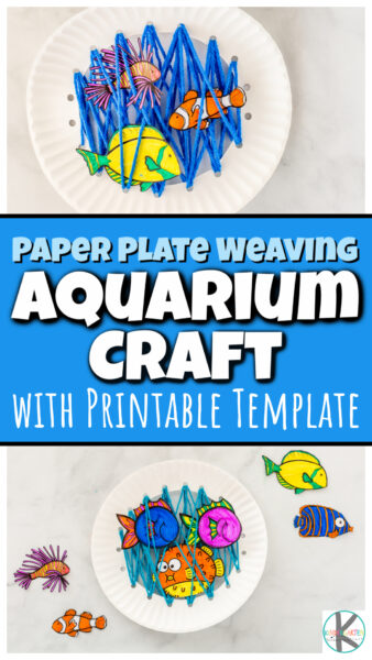 Kids of all ages will love this super cute and creativefish craft! This takes the classicpaper plate fish to the next level by using yarn to weave the under the sea or tank into the craft to help improve fine motor skills. Then print and color the fish printables and add them into the aquarium craft.Thisfish art and craft is perfect for toddler, preschool, pre-k, kindergarten, first grade, and 2nd graders too!