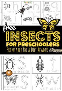 insect do a dot printables