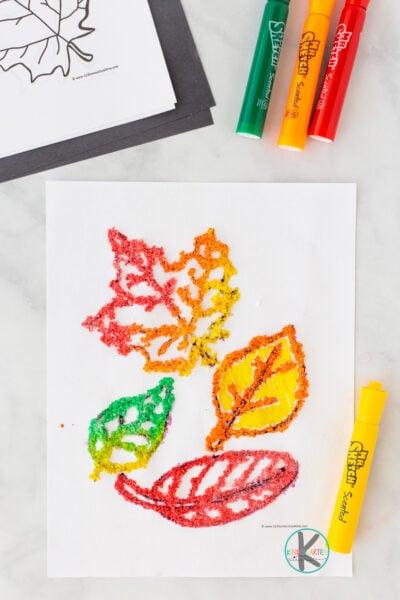 Fall leaf crafts for preschoolers