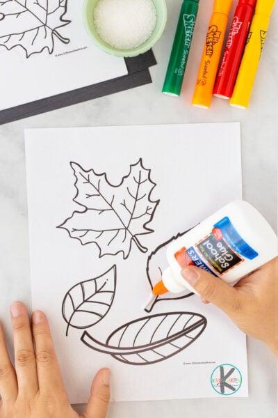 Leaf art for kindergarten