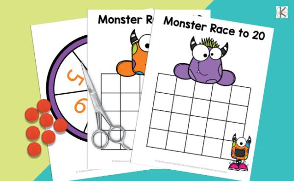 counting printables for kindergartners
