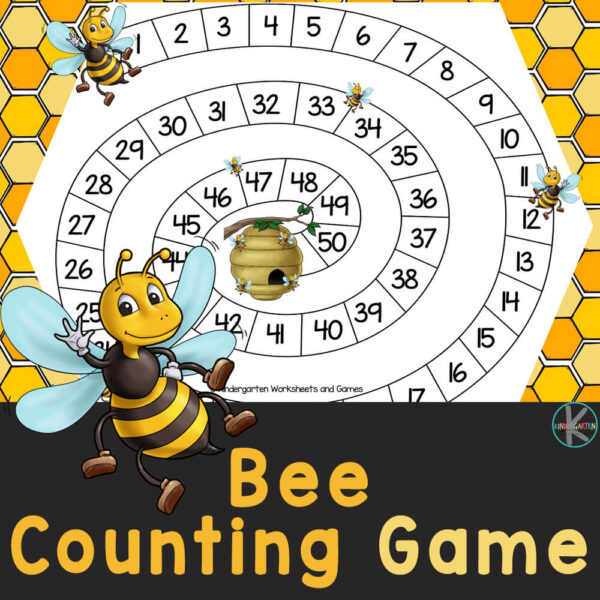 Buzz around counting 1-50 with this kindergarten math counting game! ThisBee Counting activity is great for counting to fifty with kindergarteners.