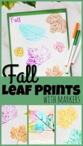fall leaf printing activity