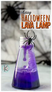Brew up your own bubbling potion with thishalloween lava lamp project perfect for October. This twist on the classiclava lamp science experiment is quick and easy-to-make! Try this as a Halloween science experiments with preschool, pre-k, kindergarten, first grade, 2nd grade, 3rd grade students. I just love using simplehalloween activities to make learning FUN!