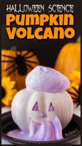 jack-o-lantern pumpkin volcano halloween science experiments