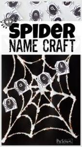 spider name craft for october