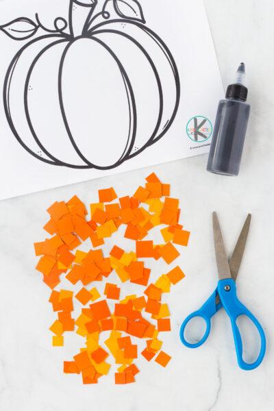 simple Pumpkin Craft for Kindergarten