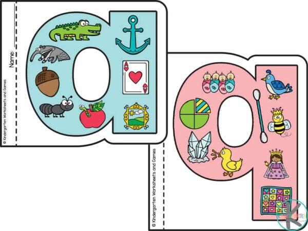 Alphabet coloring worksheets for kindergarten