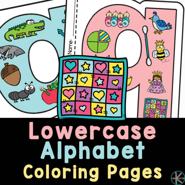 Fun-to-color, free printable Lowercase Letter Coloring Pages. Each alphabet sheet is shaped like the letter and is filled with lots of cute clipart.