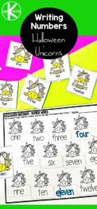 These handy number names worksheets have candy corn unicorns making it a greatnumber names activity for October. If your preschool, pre-k, kindergarten, and first graders are working on learning number names, you will love these cute Unicorn Writing Number Words Worksheets.Simply printwriting numbers in words worksheets pdf and you are ready to play and learn for a unicorn themeorhalloween activity.